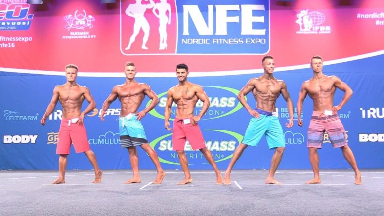 NFE 2016 –  Men's Physique juniorit – Finaali